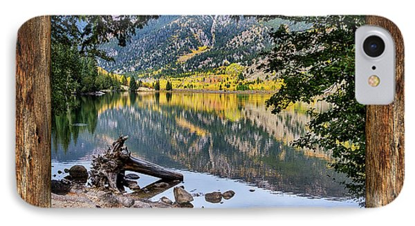 Mountain Lake Rustic Cabin Window View IPhone Case by James BO Insogna