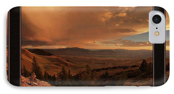 Mountain Sunset Triptych IPhone Case by Leland D Howard