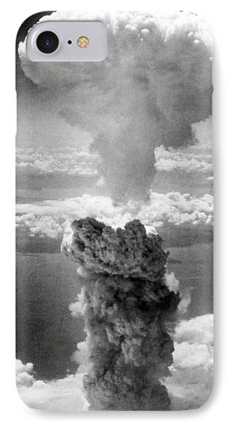 Mushroom Cloud Over Nagasaki  IPhone Case by War Is Hell Store