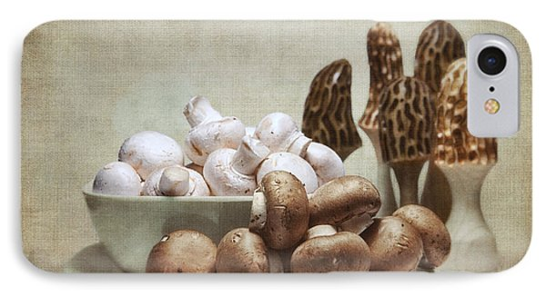 Mushrooms And Carvings IPhone Case by Tom Mc Nemar
