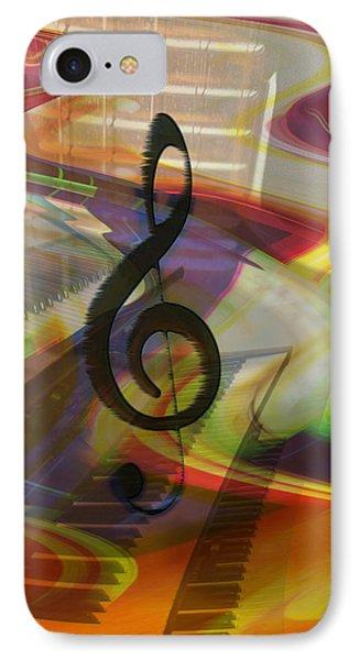 Musical Waves Phone Case by Linda Sannuti