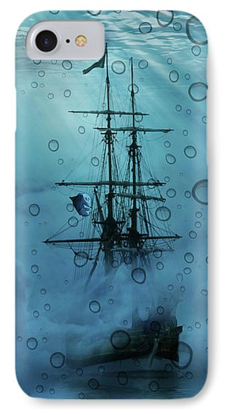 Mystery Ship Underwater IPhone Case by Stephanie Laird