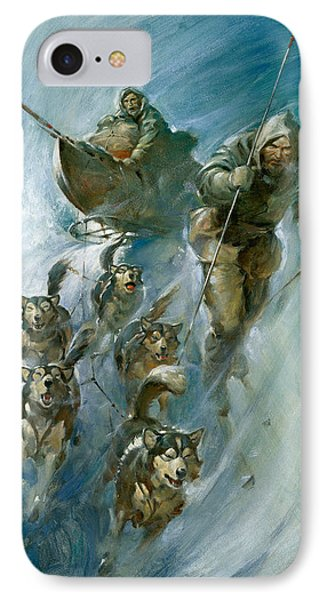 Nansen Conqueror Of The Arctic Ice IPhone Case by James Edwin McConnell