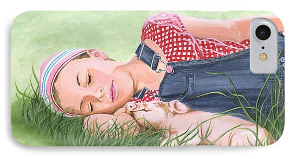 Nap Time Together IPhone Case by Twyla Francois