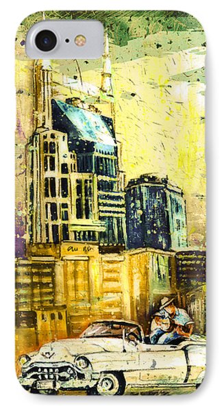 Nashville Authentic Madness IPhone Case by Miki De Goodaboom