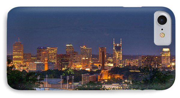 Nashville By Night 2 Phone Case by Douglas Barnett