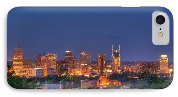 Nashville By Night Phone Case by Douglas Barnett