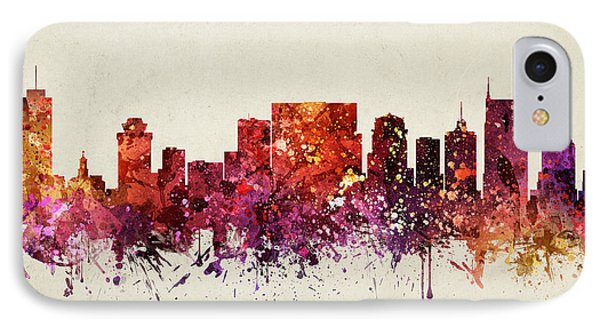 Nashville Cityscape 09 IPhone 7 Case by Aged Pixel