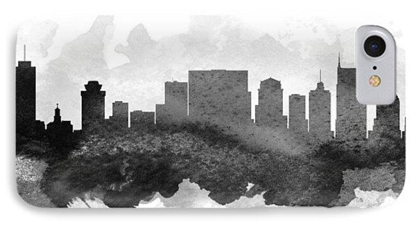 Nashville Cityscape 11 IPhone Case by Aged Pixel