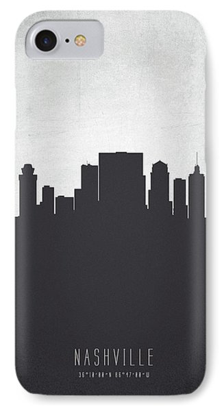 Nashville Tennessee Cityscape 19 IPhone Case by Aged Pixel