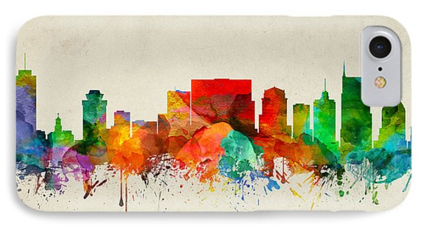 Nashville Tennessee Skyline 22 IPhone Case by Aged Pixel