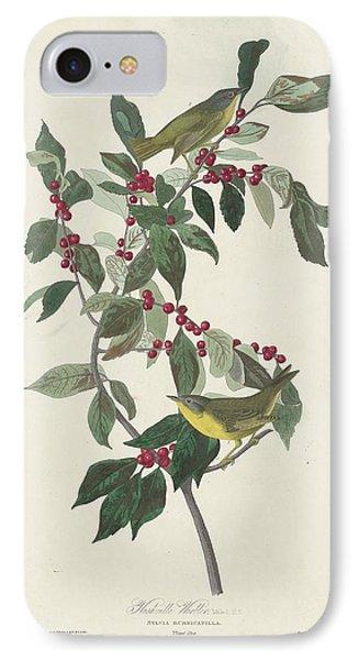 Nashville Warbler IPhone Case by John James Audubon