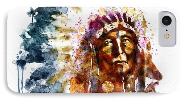 Native American Chief IPhone Case by Marian Voicu