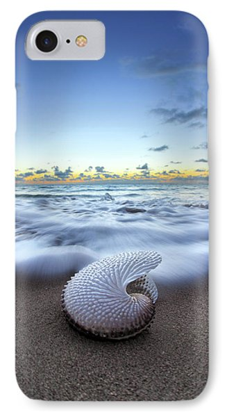 Nautilus By Nature IPhone Case by Sean Davey