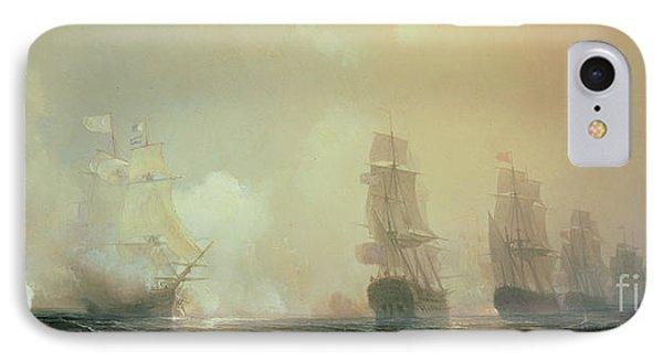 Naval Battle In Chesapeake Bay IPhone Case by Jean Antoine Theodore Gudin