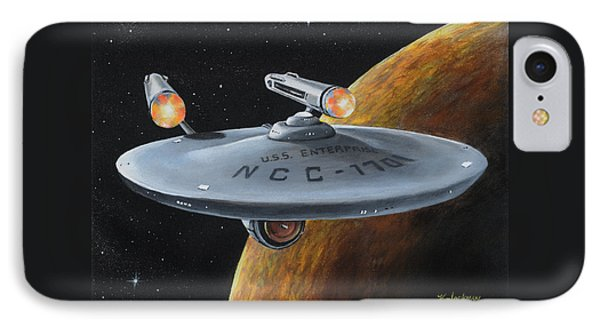Ncc-1701 IPhone Case by Kim Lockman