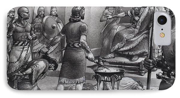 Nebuchadnezzar And Zedekiah IPhone Case by Pat Nicolle