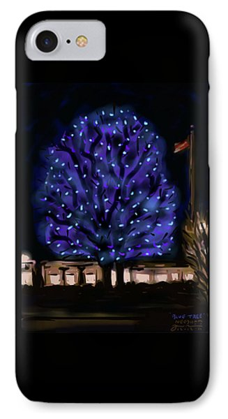 Needham's Blue Tree IPhone Case by Jean Pacheco Ravinski