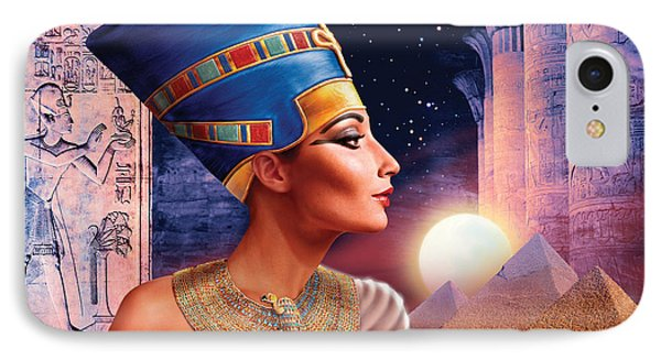 Nefertiti Variant 5 Phone Case by Andrew Farley