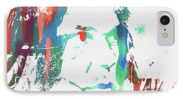 Neil Young Paint Splatter IPhone 7 Case by Dan Sproul