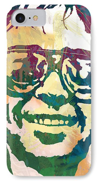 Neil Young Pop Stylised Art Poster IPhone Case by Kim Wang