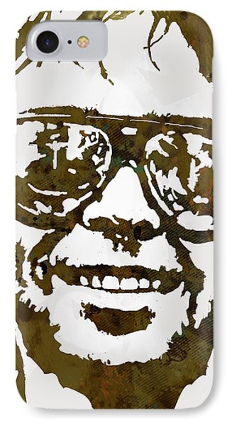 Neil Young Pop  Stylised Art Sketch Poster IPhone Case by Kim Wang