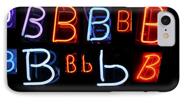 Neon Sign Series Featuring The Letter B  Phone Case by Michael Ledray