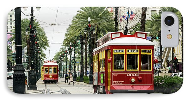 New Orleans Canal Street Line IPhone Case by Priyanka Madia