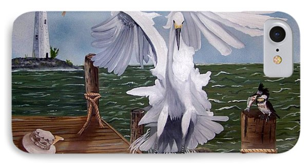 New Point Egret Phone Case by Debbie LaFrance