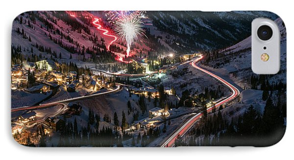 New Year's Eve At Snowbird IPhone Case by James Udall