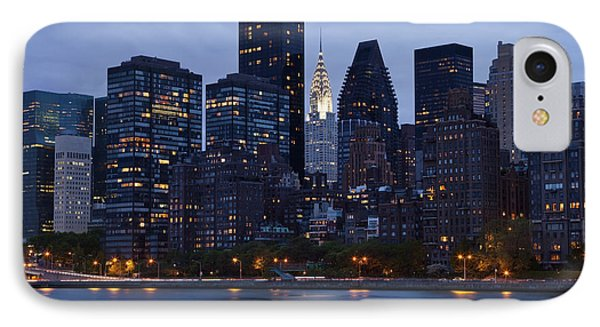 New York City From Across The Water Phone Case by Bryan Mullennix