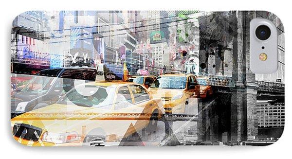 New York City Geometric Mix No. 9 IPhone Case by Melanie Viola