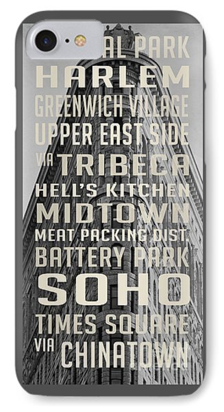 New York City Subway Stops Flat Iron Building IPhone Case by Edward Fielding