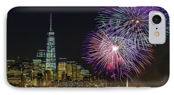 New York City Summer Fireworks IPhone Case by Susan Candelario