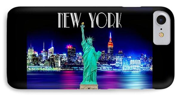 New York Shines IPhone Case by Az Jackson