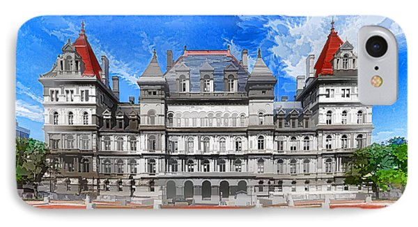 New York State Capitol Phone Case by Lanjee Chee