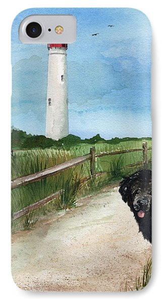 Newfy At Cape May Light  Phone Case by Nancy Patterson