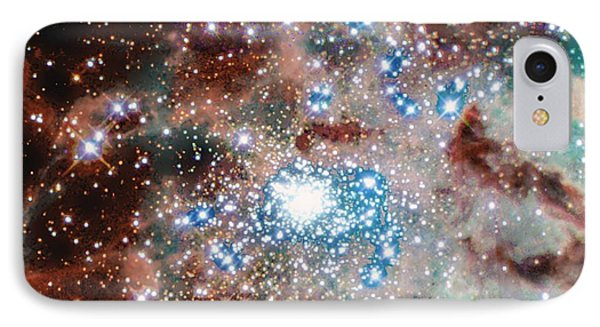 Newly Formed Stars In The Doradus Nebula IPhone Case by American School