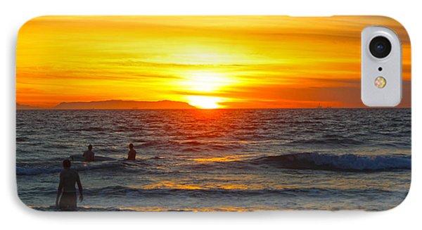 Newport Beach Sunset IPhone Case by Habib Ayat