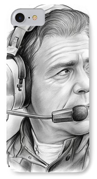 Nick Saban IPhone Case by Greg Joens