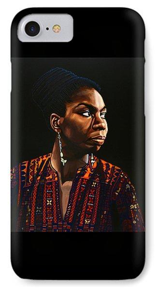 Nina Simone Painting IPhone 7 Case by Paul Meijering