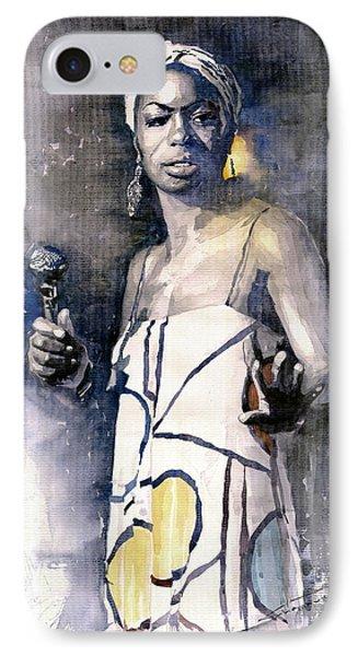 Nina Simone IPhone Case by Yuriy  Shevchuk