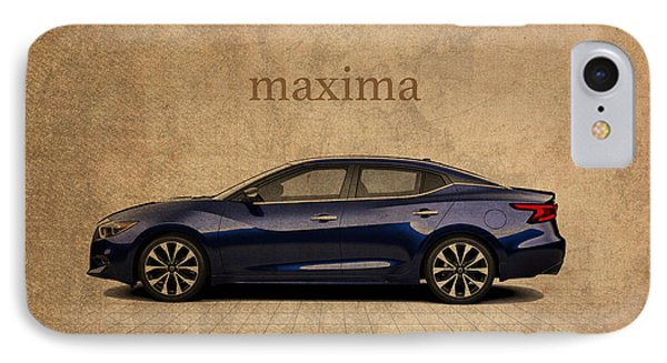 Nissan Maxima Vintage Concept Art IPhone Case by Design Turnpike
