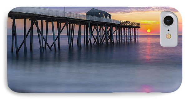 Nj Shore Pier Sunrise IPhone Case by Susan Candelario