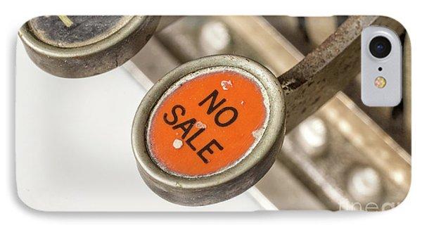 No Sale IPhone Case by Edward Fielding