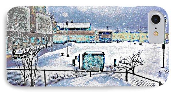 No School. Snow Day-a IPhone Case by Daniel Sanders