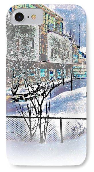 No School. Snow Day IPhone Case by Daniel Sanders