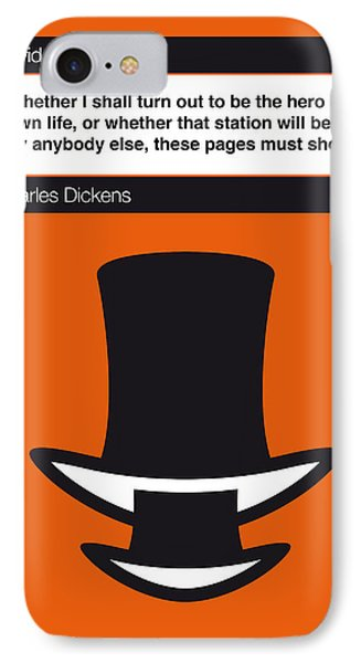 No020-my-david Copperfield-book-icon-poster IPhone Case by Chungkong Art