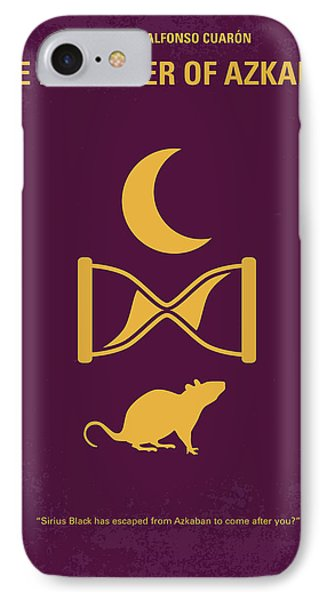 No101-3 My Hp - Prisoner Of Azkaban Minimal Movie Poster IPhone Case by Chungkong Art