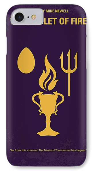 No101-4 My Hp - Goblet Of Fire Minimal Movie Poster IPhone Case by Chungkong Art
